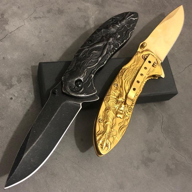 Skull Mirror Scrub titanium Outdoor Rescue Tool Knives Multi Function tactical