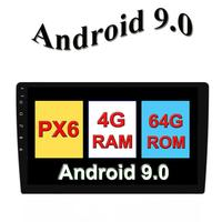10.1 inch Android 9.0 car radio 1 din autoradio stereo with wifi steering wheel control, support the DAB,OBD2,TV, 4G,DVR