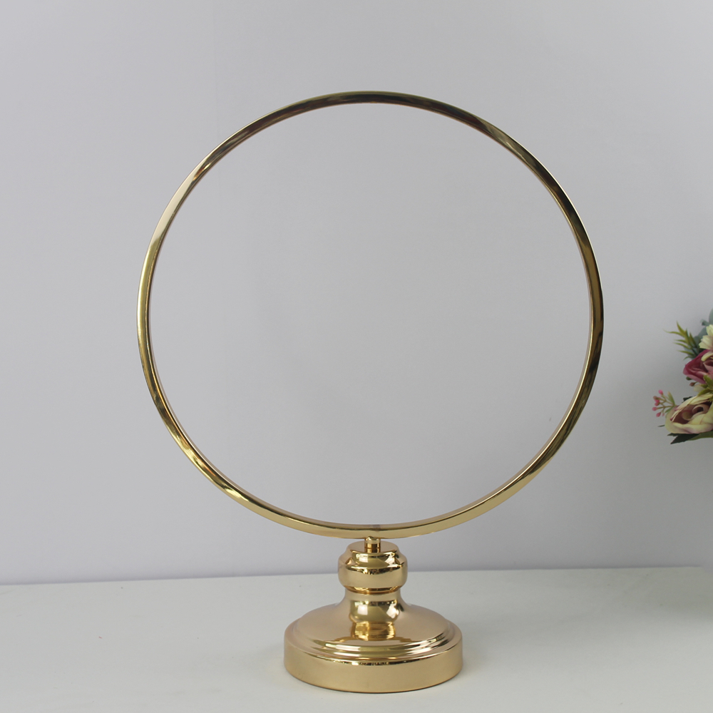 10 PCS Round Ring Arch Wedding Table Centerpieces Metal Artificial She (4)