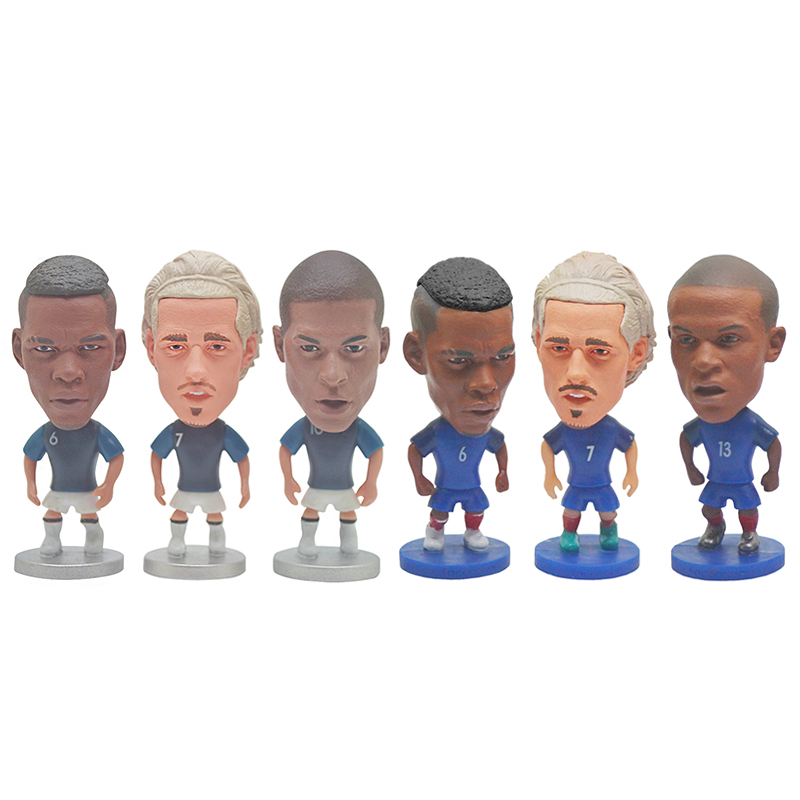 France Football Star Toys POGBA MBAPPE 2018 World Cup Champion Soccer Players Figures Movable Dolls In Stock Fans Souvenir Gif image