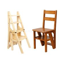 Ladder Chair Step-Stool Folding Home Wood Multi-Function Creative