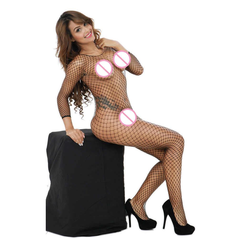 2019 Vrouwen Sexy Kostuums Lingerie Bodysuit Visnet Crotchless Babydoll Bodysuits Nachtkleding catsuit erotische Ondergoed bodystock # y4