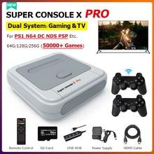 50000 + jogos super console x pro retro mini tv consoles de jogos de vídeo 4k hd wifi portátil crianças console de jogo para ps1/n64/dc