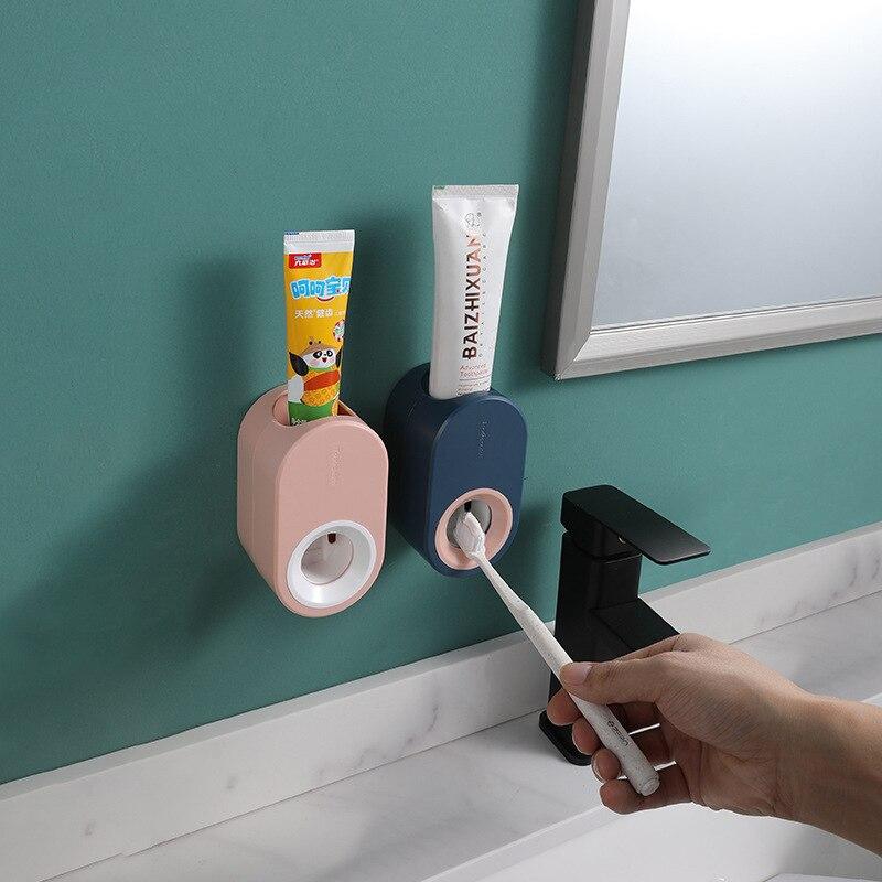 Luluhut Squeezer ยาสีฟันยาสีฟันอัตโนมัติติดผนังผู้ถือยาสีฟันขี้เกียจสำหรับยาสีฟัน