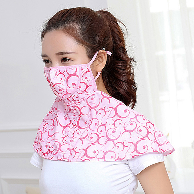 Women Summer Outdoor Breathable Neck UV Protection Shawl Sun-proof Face Mask 4