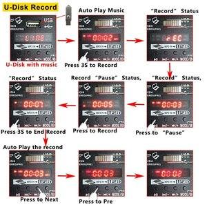 Image 4 - A4 konsola miksowania dźwięku bluetooth USB rekord odtwarzanie komputera zasilanie Phantom 48V opóźnienia Repaeat efekt 4 kanały USB mikser audio