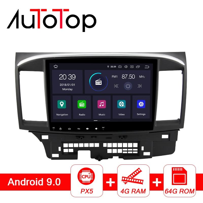 Автомагнитола AUTOTOP 10,1 дюйма PX5 DSP 2 Din, на базе Android 8,1/9,0, для Mitsubishi lancer x 2007-2018, GPS-навигация, Bluetooth, 4G, Wi-Fi, без DVD