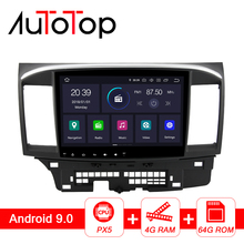 "AUTOTOP 10.1"" PX5 DSP 2 Din Android 8.1/9.0 Car Radio for Mitsubishi lancer x 2007 2018 GPS Navigation Bluetooth 4G Wifi No DVD"