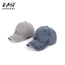 Men And Women Baseball Cap Summer New Fashion Simple Casual Solid Color Comfortable Denim Fabric Caps 6 Colors Hot Sell