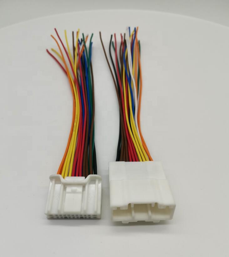 Free Shipping 1/2 Pcs 20 Pin Male Female Wire To Wire Cable Harness Connector 6098-5622 6098-5613 With 20AWG 15cm Wire