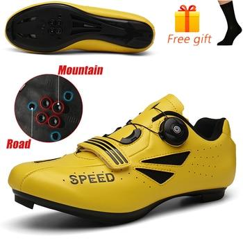 Carbon Fiber Men Cycling Shoe Breathable Triathlon Mountain Bike Shoes Man Sport Road Racing Snaeker Spin Buckle 11