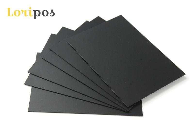 Mini Black Board Erasable Blank PVC Chalk Card, Bakery Cafe Chalkboard Price Tag Sign Heavy Plastic Panels Label Ticket Reusable