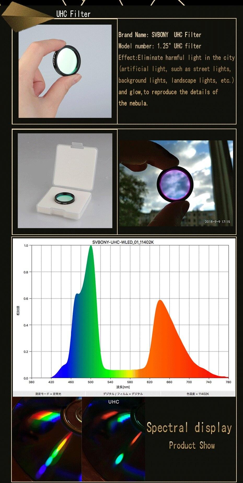 UV-IR 1 2pcs, eliminação de filtros de