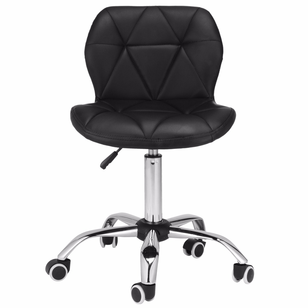 Adjustable Bar Stool Home Computer Desk Office Chair Chrome Legs Rotatable Creative Leisure Office Chair