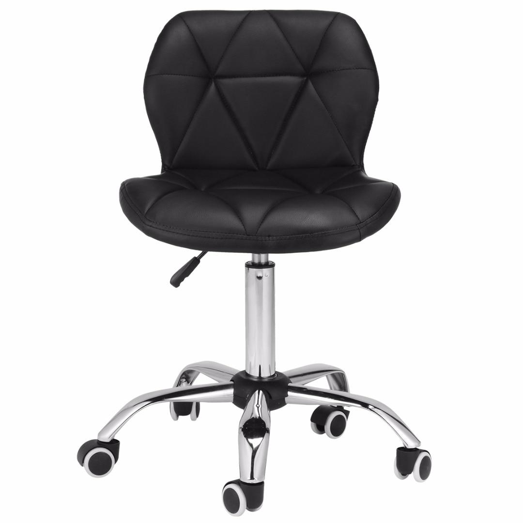 Adjustable Bar Stool Home Computer Desk Office Chair Chrome Legs Rotatable Creative Leisure Office Chair
