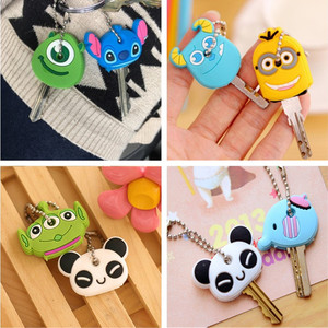 Protective Key Case Cover for Key Control Dust Cover Holder Cartoon Silicone Organizer cat Home Accessories Supplies-2Pcs/Set