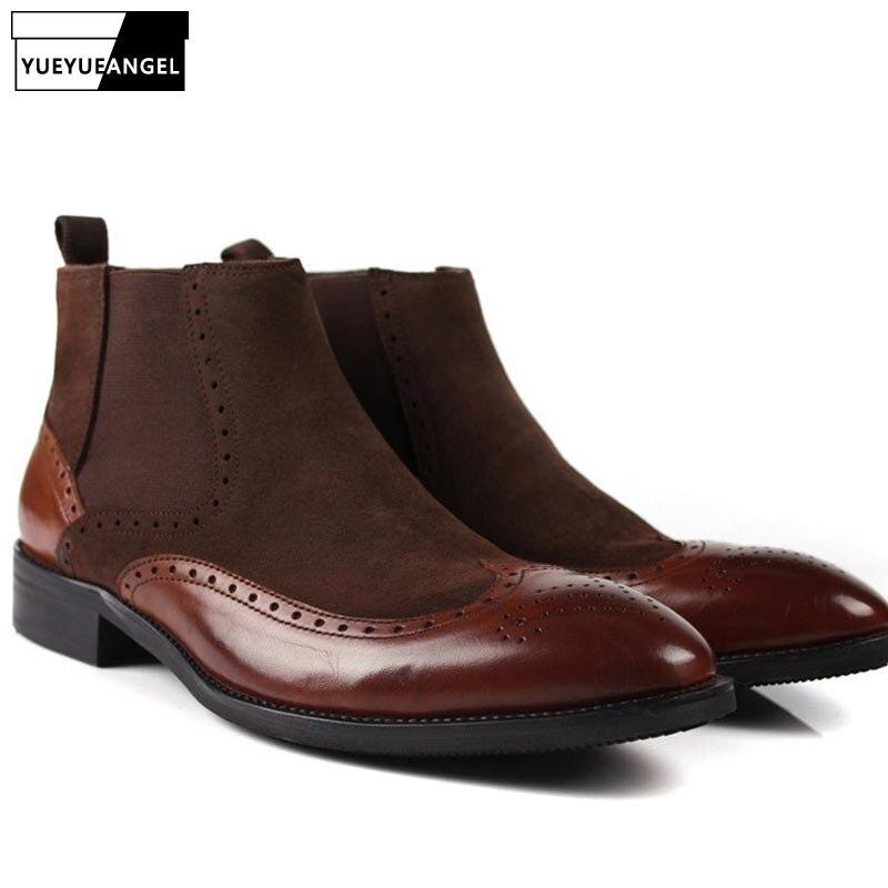 Italian Genuine Suede Leather Mens