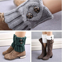 Women Crochet Boot Leg Warmers Boot Cover Keep Warm Socks Calcetines Mujer cheap Solid Polyester Acrylic CN(Origin) 15cm Knitted Leg Warmers