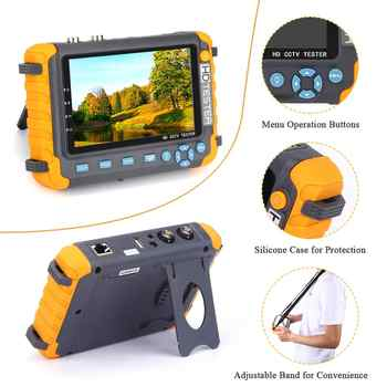 AHD CCTV tester 5 inch 1080P Portable CCTV Mini monitor camera tester AHD CVBS tester kamery HDMI VGA R485 video tester
