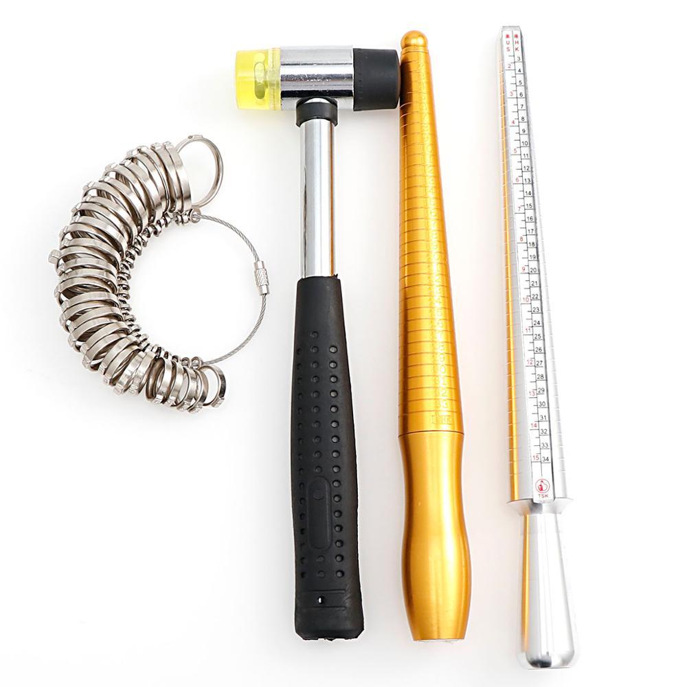 1PC New Plastic Stick Ring Sizer Mandrel Gauge Set Finger Sizes Measuring Jewelry Sizing Tools Equipment