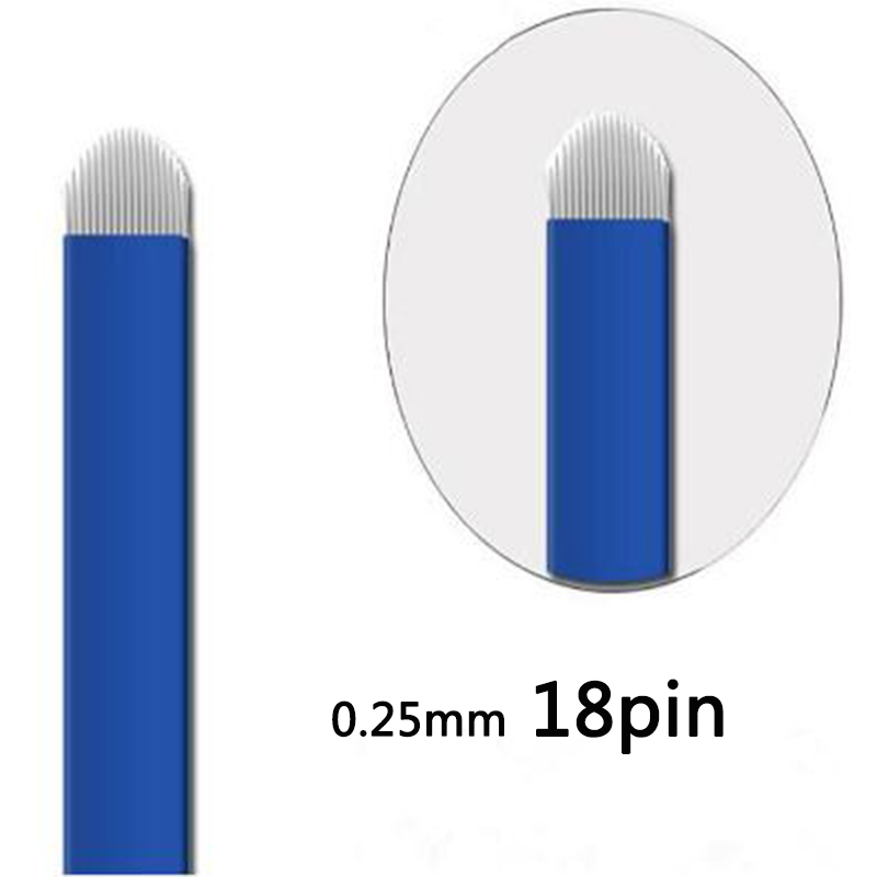 0 25mm 18 PIN U Shape Profession Microblading Needles Blades Microblading Needle Fog Eyebrow Lip Needle Eyebrow Tattoo Needle in Tattoo Needles from Beauty Health