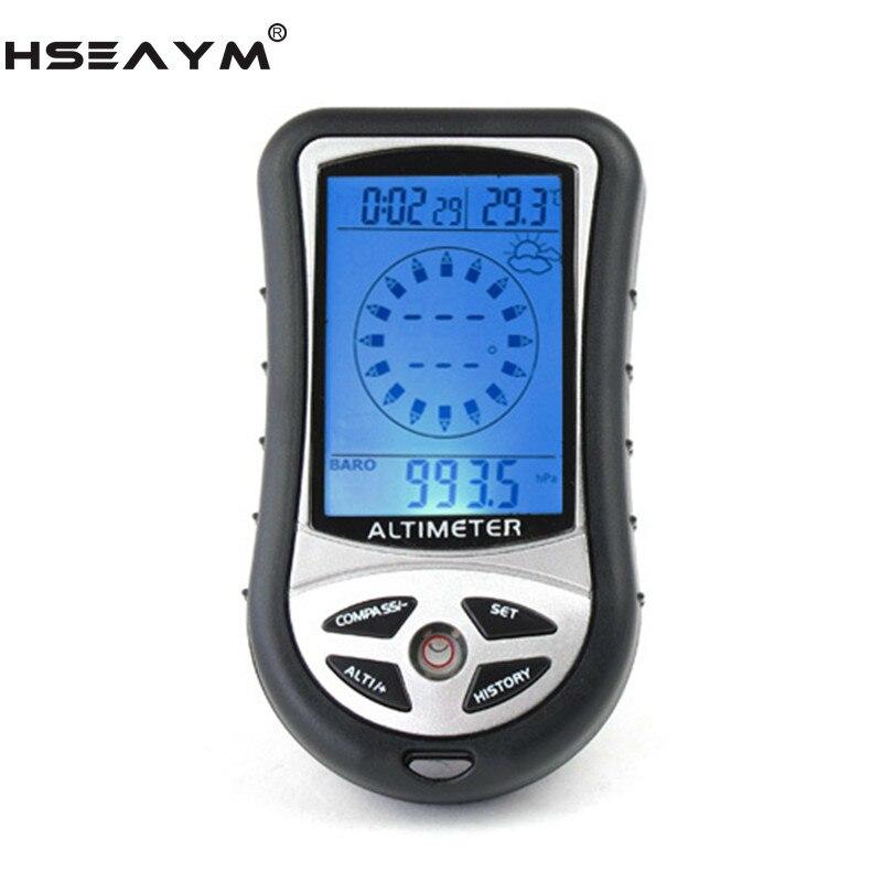 Электронный альтиметр HSEAYM 8 в 1, компас, барометр, Вихревой стол, Уличный Термометр, для охоты, туризма, рыбалки, компас