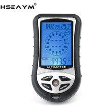 Hseaym 8 In 1 Elektronische Hoogtemeter Kompas Barometer Hoogte Tafel Outdoor Thermometer Jacht Wandelen Vissen Kompas