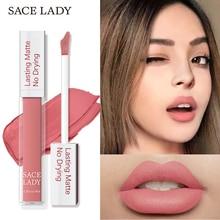 SACE LADY 19 Color Waterproof Matte Lipstick Long Lasting Lipsticks Lip Sticks E