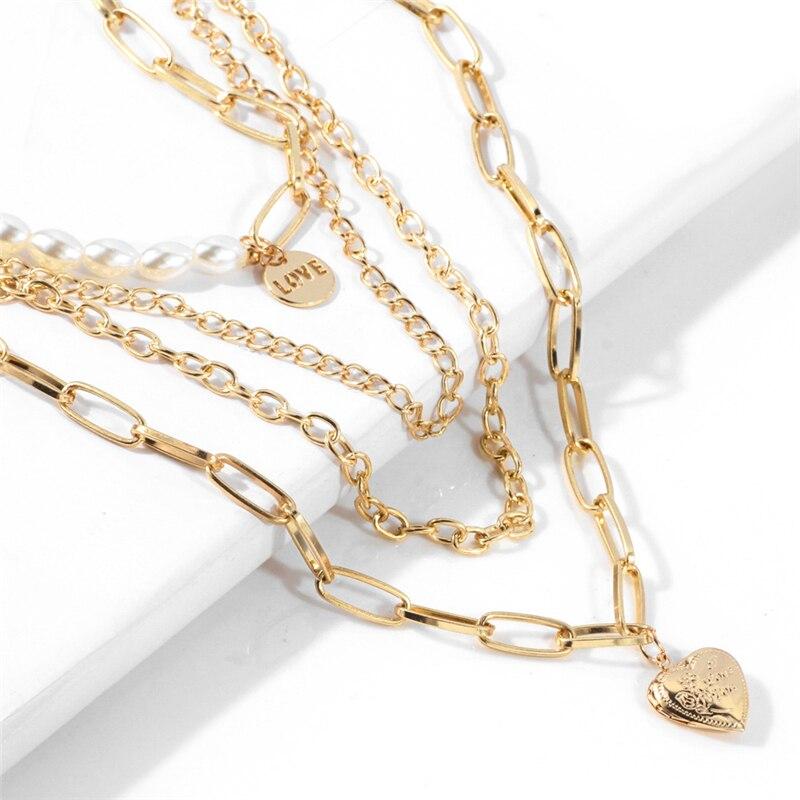 KSRA 2020 новое ожерелье с подвеской с изображением жемчуга персикового сердца модное ожерелье популярная медная многослойная цепочка на свит...