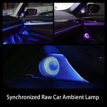 Car speaker cover lighting for BMW G30 synchronized with ambient light front door tweeter LED glow lamp case horn luminous lid