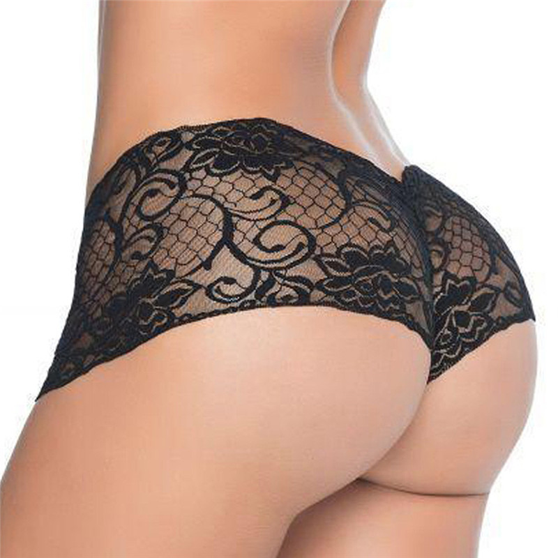 New Fashion Seamless Solid Color Lingerie Sexy Hollow Out Panties Low Rise Concise Briefs Thin Underwear For Women
