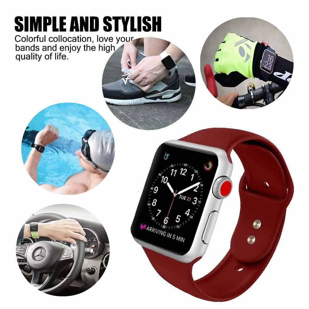 2019 ใหม่สำหรับ Apple Watch 5 4 3 2 1 30 สีซิลิโคน 38 มม.42 มม.สำหรับ Apple Watch Series 4 40 มม.44 มม.