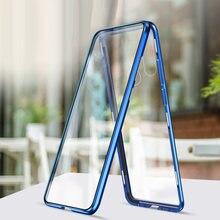 Metal kasa Huawei onur için görünüm 20 20 Lite 6.21 6.15 20S rus 20 Pro temperli cam mıknatıs durumda ön ve arka cam kapak