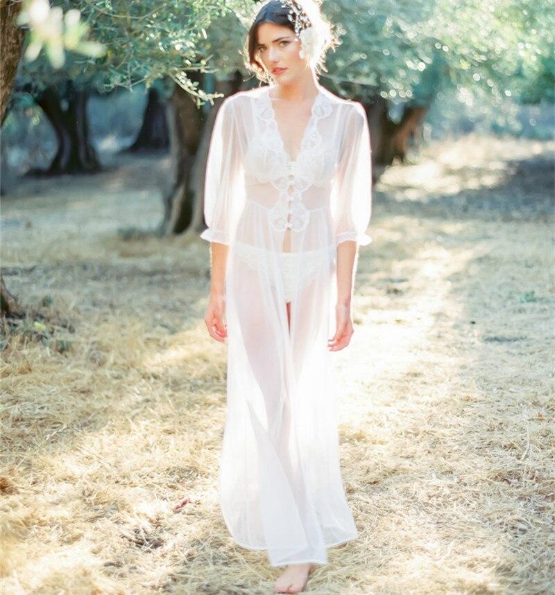 Europe And America Hot Selling Chiffon Chest Spell Lace Belt Buttons Beach Skirt Holiday Wedding Dress Bikini Cover-up Sun Shirt
