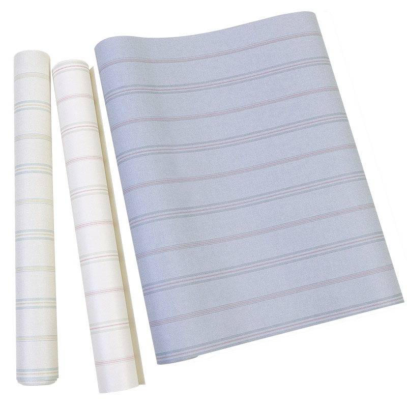 Bonne qualité style nordique papier peint ins non-tissé moderne minimaliste gris rayé papier peint vertical salon chambre bureau