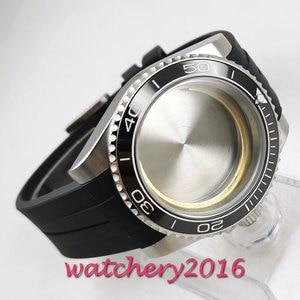 Image 3 - 40mm sapphire glass black ceramic bezel Watch Case set fit 2836 miyota 8215 MOVEMENT