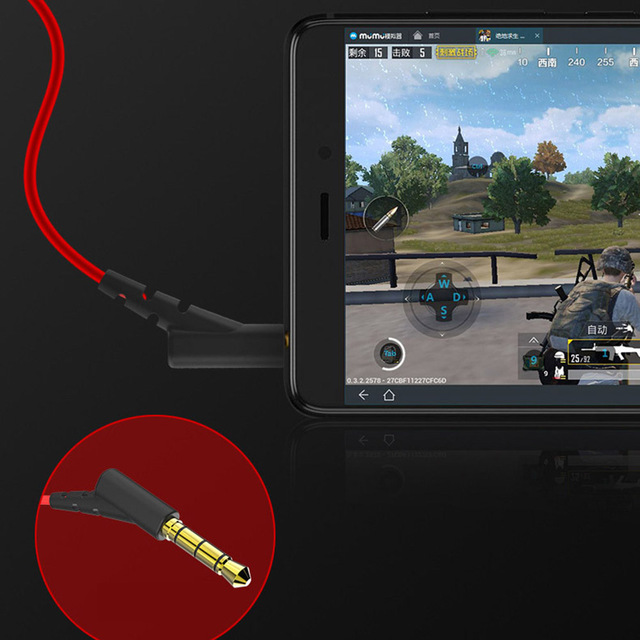Portable Dynamic Noise Reduction In-Ear Wired Call Earphones Gaming Computer Earpiece With Dual Mic 5