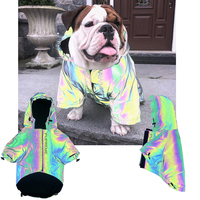 HEYPET Reflective Dog Jacket Coat Warm Pet Clothes Outdoor Dog Clothing Dogs Jacket Rainproof Windproof Bulldog Chihuahua