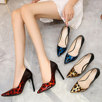 MAIERNISI new super high heel women's shoes high heels fashion shallow shoes mixed color nightclub XL 35 44 45 46 47