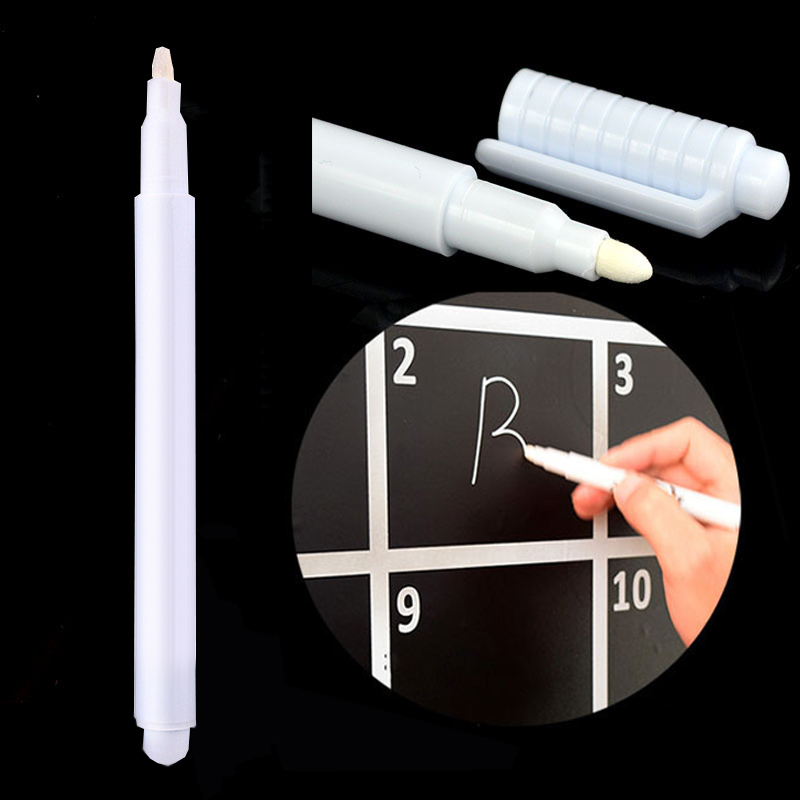 White Liquid Erasable Marker Pen Creative Chalk For Glass Windows Blackboard Markers Teaching Tools  Office Material Escolar