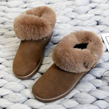 2019 New Warm Snow Boots Women Fashion Winter Fur Platform Ladies Fluffy Ankle Brown Rubber
