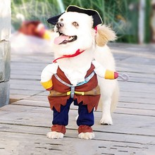 Pet Dog Costume Cool Pirates Of The Caribbean Style Cat Costumes Halloween Dog Cosplay цена