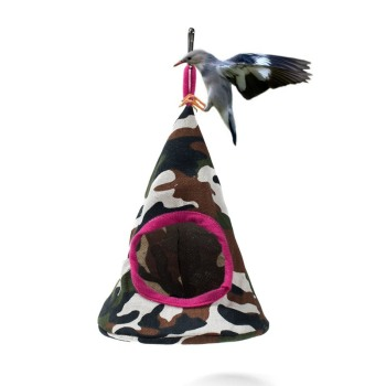 New 5 Colors Pet Cone Basket Birdhouse Hammock Plush Bird Toys Parrot Hammock Warm Hammock Pet Cave Cage Tent Toy House 1