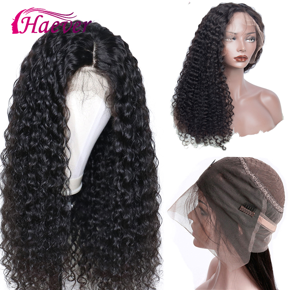Haever 13X4 Deep Wave Wig Brazilian Lace Front Human Hair Wigs For Women Remy 180% Density Natural New Hair Preplucked Lace Wig
