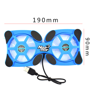 Image 5 - Rotatable USB Fan Cooling Pad 2 Fans Cooler Notebook Cooler Computer USB Fan Stand For 8 14 PC Laptop PC Computer Peripherals