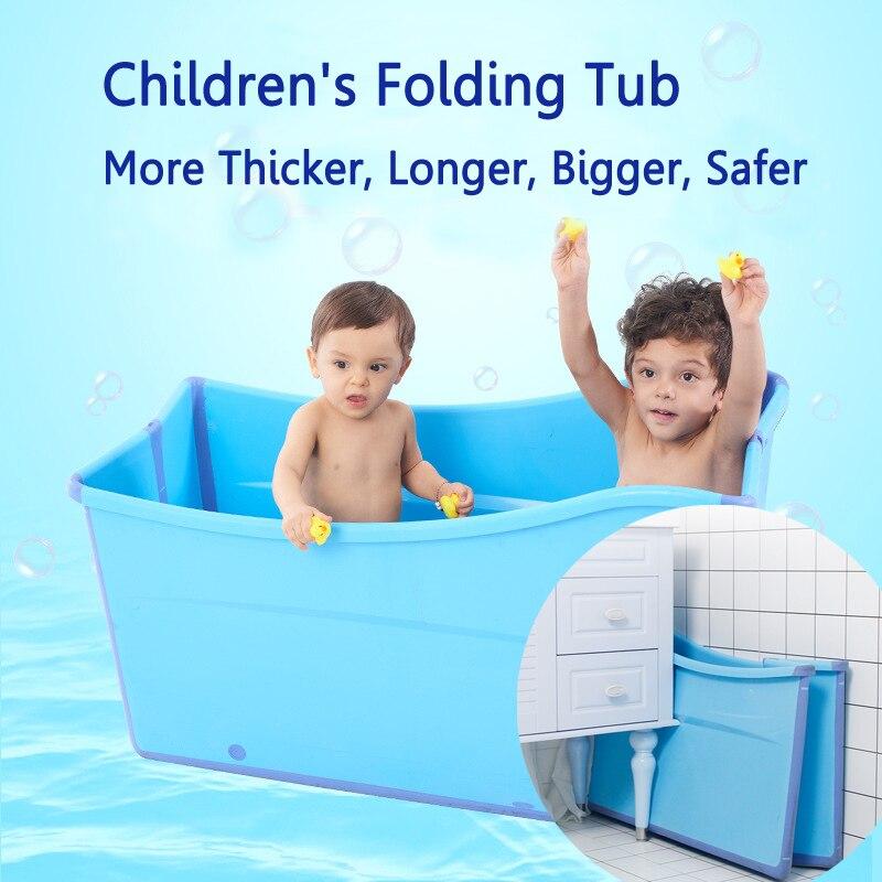 A pliant enfant enfants baignoire épaissir solide rose/bleu bébé baignoire bébé filles & garçon barils de bain 100*56cm