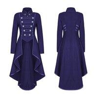Women Coat Dress Costume Fashion Solid Jacket Long Sleeve Casual Lapel Punk