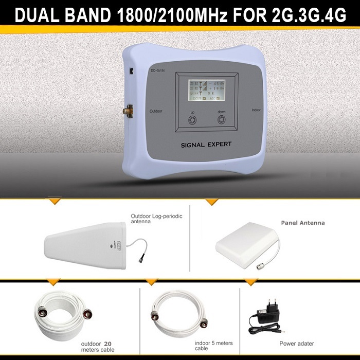 2g+3g+4g1800/2100mhz Signal Booster,repeater Signal Enhanced Device