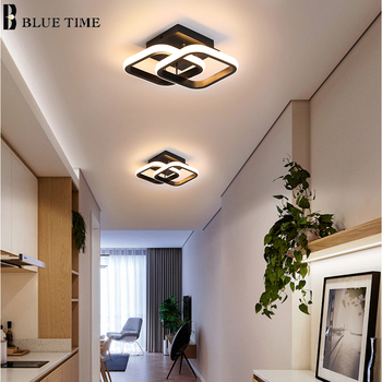 modern led ceiling lights 40 60cm for bedroom cloakroom ceiling lamp aisle corridor balcony lamps white black lighting fixture Modern LED Aisle Ceiling Lights Lustre Black&White Led Ceiling Lamps For Bedroom Staircase Light Corridor Light Indoor Lighting
