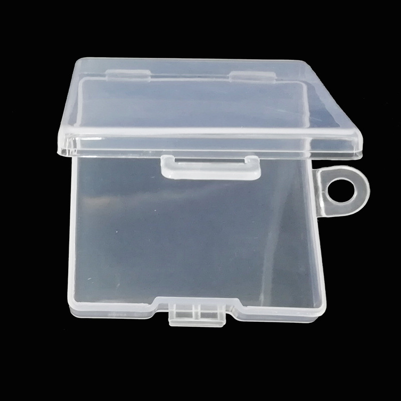 Купить с кэшбэком SD TF Transparent Memory Card Holder Component PP Packaging Box Plastic Environmental Protection PP Hook Box Memory Card Cases